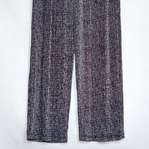 Coldwater Creek Wide Leg Pants Black & White EUC